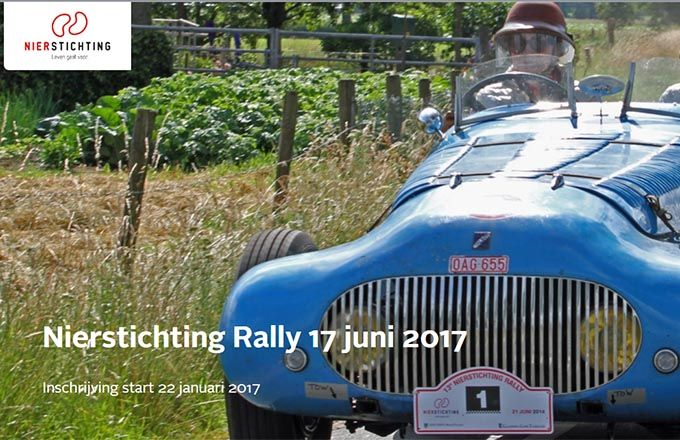 Rallyborrel Nierstichting rally 22 januari